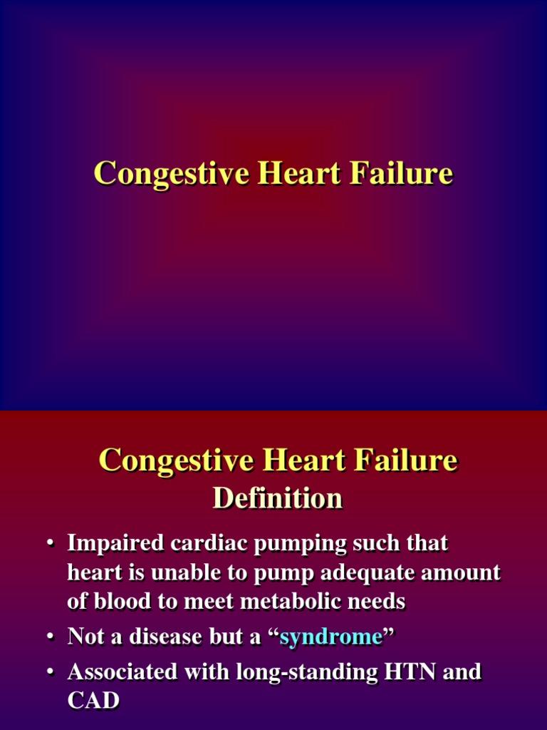 congestive heart failure | heart failure | heart