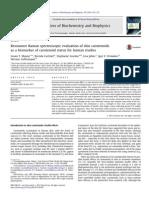 Resonance Raman Spectroscopic Evaluation of Skin Carotenoids as a Biomarker of Carotenoid Status for Human Studies