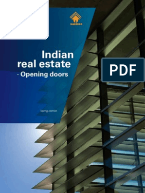 Indian-real-estate-Opening-doors pdf | Foreign Direct