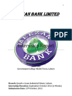 Meezan Bank Internship Report