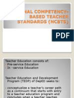 National Competency-based Teacher Standards (Ncbts)