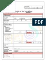 Application for Non-Creamy Layer Certificate v0.1