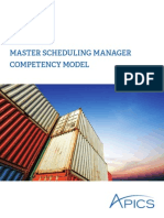 Master Scheduling Manager Competency Model
