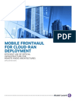 10351 Mobile Fronthaul Cloud Ran Deployment