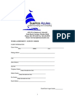 Suenos Azules Marine Surveying and Consulting Work Agreement