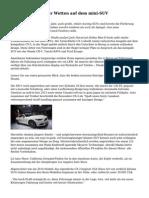 Automobilhersteller Wetten auf dem mini-SUV