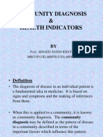 Community Diagnosis  Health Indicators.ppt