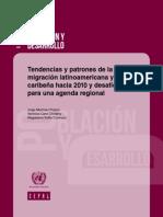Tendencias y patrones de la migración latinoamericana y caribeña hacia 2010 y desafíos para una agenda regional