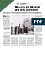 150112 La Verdad- El Archivo Nacional de Gibraltar Entra de Lleno en La Era Digital