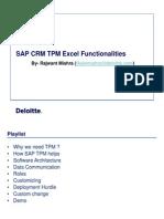 SAP TPM Excel Capabilities