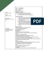 Sample of Lesson Plan Year 1 KSSR