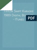 Taylor Swift Karaoke 1989 Digital Booklet - ITunes