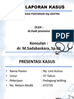dr.hadi pramono. Presentasi Lapsus Dislokasi Hip Ppt