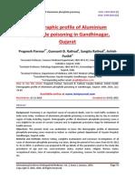 Demographic profile of Aluminium phosphide poisoning in Gandhinagar, Gujarat