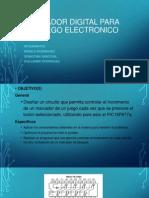 Marcador Digital Para Un Juego Electronico