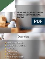 Week 5 Vitamins Minerals Antioxidants Phytonutrients Functional Foods