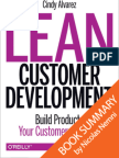 Lean Customer Development by Cindy Alvarez Summary