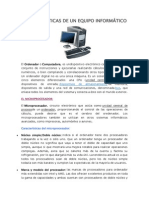 Características de Un Equipo Informático