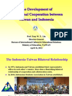 The Development of Educational Cooperation between Taiwan and Indonesia
