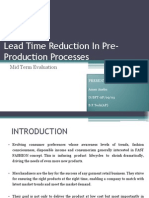 Lead Time Reduction in Merchandising Processes(1)