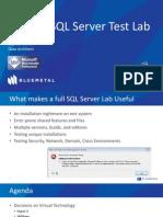 Building a SQL Server Test Lab