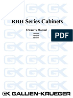 GK Cab Rbh Owners Manual