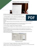 3 Hal Penting Penggunaan Tanggal Di Excel