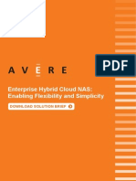 Combine the best of NAS and Cloud with Avere's Enterprise Hybrid Cloud NAS