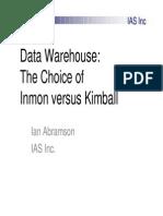 Inmon vs Kimball