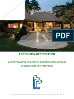 Ecotourism Certification- Draft