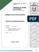 Proyecto de Inversion 2014