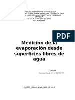 Medición de La Evaporación Desde Superficies Libres de Agua