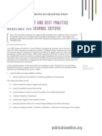 Code of Conduct and Best Practice Guidelines for Journal Editors