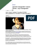 Ruling Safeguards Transgender Women From Harassment - Says Transgender Singer, Rozz