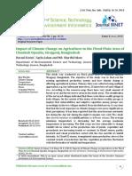 Impact of Climate Change on Agriculture in the Flood Plain Area of Chauhali Upazila Sirajgonj Bangladesh