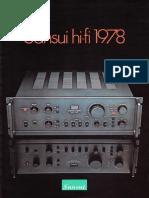 Catalogue Sansui 1978