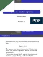 Spline and Penalized Regression