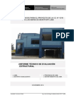 Informe Evaluación Estructural Chaclacayo
