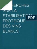 RECHERCHES SUR LA STABILISATION PROTEIQUE DES VINS BLANCS.docx