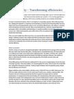 Doublesafety Transforming Efficiencies