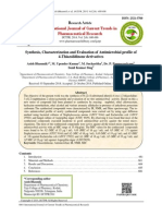 Synthesis, Characterization and Evaluation of Antimicrobial profile of 4-Thiazolidinone derivatives