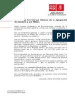 Eleccion de Maria Angeles Herrero, Secretaria General Agrupacion de Alpuente