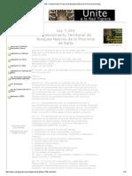 Ley 7.543 - Ordenamiento Territorial de Bosques Nativos de La Provincia de Salta