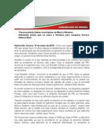 10-01-15 Toman protesta líderes municipales de México Nuevo