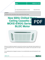 MBM019-1407 Launching of 60Hz Chilled Water Ceiling Cassette MCKE-EW(H) Series