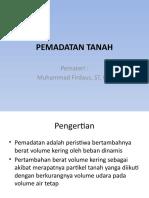 PEMADATAN TANAH