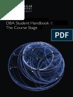 DBA Handbook1 Course Stage