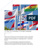22 Tips for Learning a Foreign Language