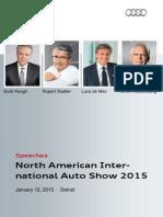 Speeches, North American International Auto Show 2015, January 12, 2015