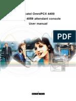 Alcatel 4059 attendant console